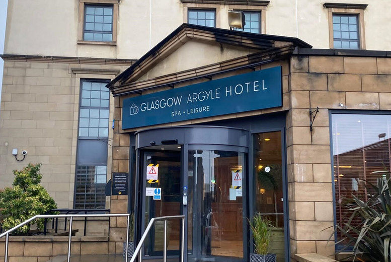 Glasgow Argyle Hotel - spa entrance