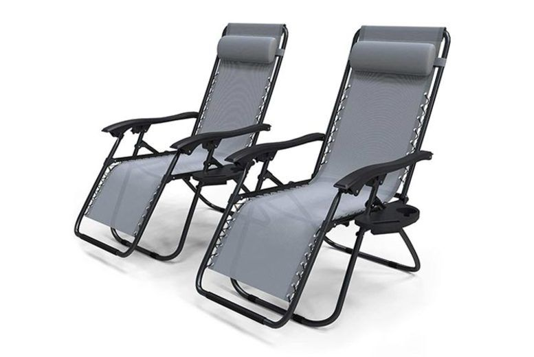 Sun-Loungers-with-Cup-Holder-Grey-3