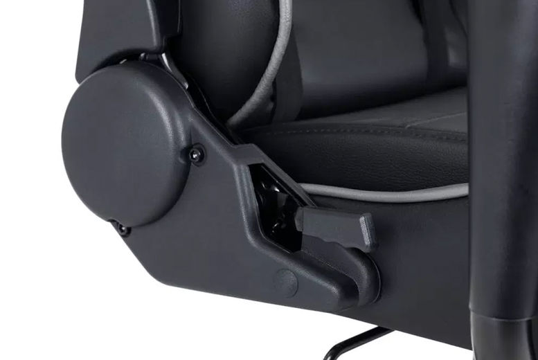 Sleek-Gaming-Chair-Black-and-Grey-Faux-Leather-7