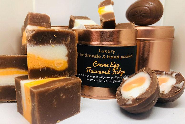 Creme Egg Flavoured Fudge Tin Voucher