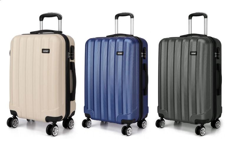 Kono-Vertical-Stripe-Hard-Shell-20inch-Suitcase-1