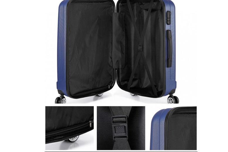 Kono-Vertical-Stripe-Hard-Shell-20inch-Suitcase-5