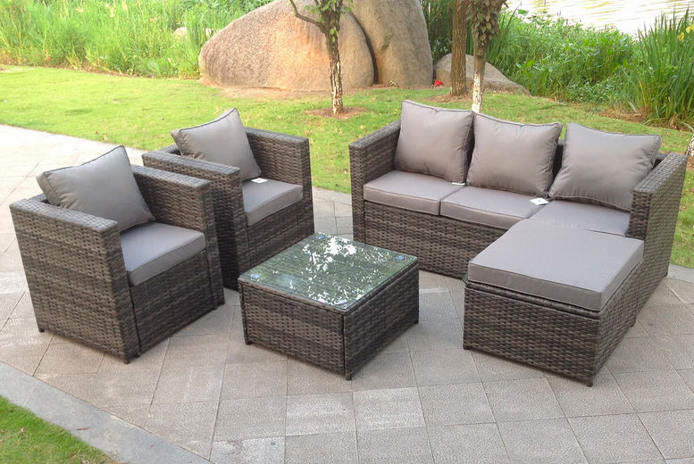 Fimous---Fimous-6-Seater-Rattan-Sofa-Set-Coffee-Table-Chair-Footstool-Outdoor-Garden-Furniture-Grey