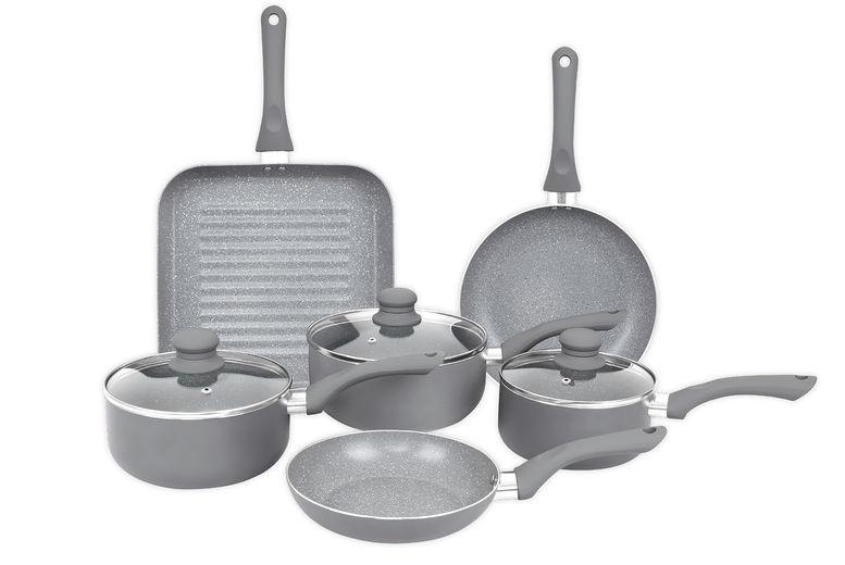 Home-Induction-Aluminium-9-Piece-Non-Stick-Grey-Marble-Effect-Frying-Saucepan-2