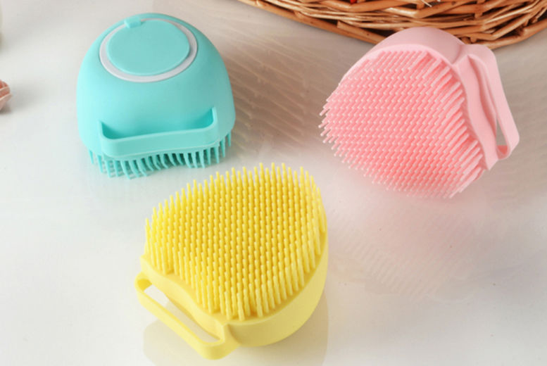 Heart-Shaped-Soap-Dispensing-Silicone-Scrubber-Cleansing-Brush-1