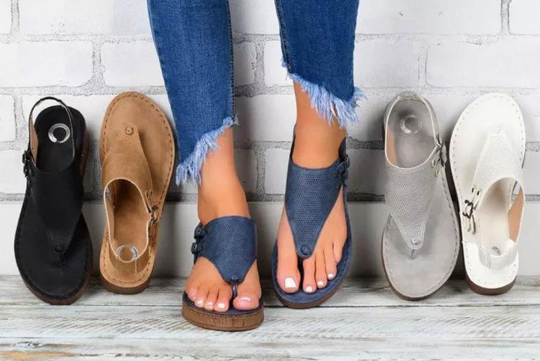 INOD-TRADING-LTD.---Women's-Hollow-Flat-Sandals