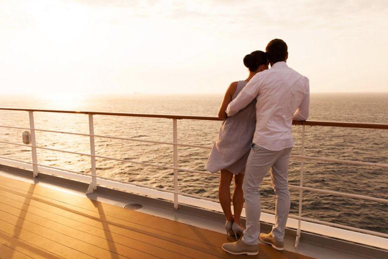 Cruise Ship, Stock Image - Couple on Deck