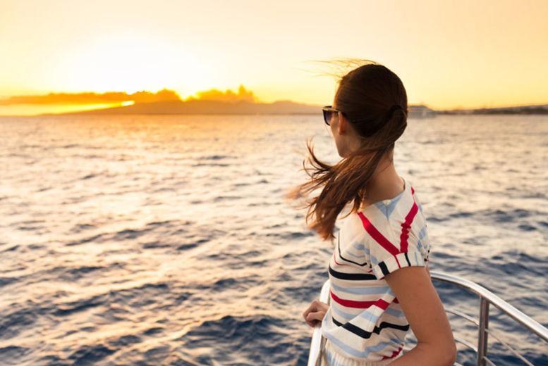 Cruise Ship, Stock Image - Woman at Bow