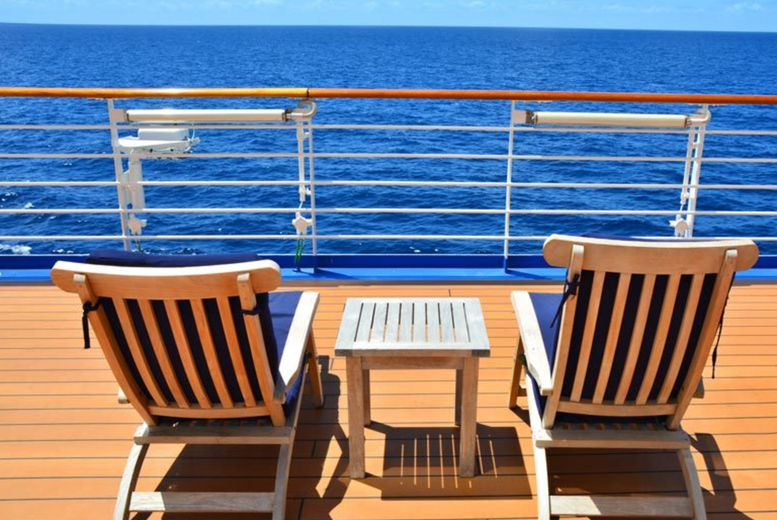 Generic Cruise Ship, Stock Image - Deck Chairs