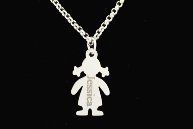 Personalised-Children-Girl-Plated-Family-Engraved-Necklace-1