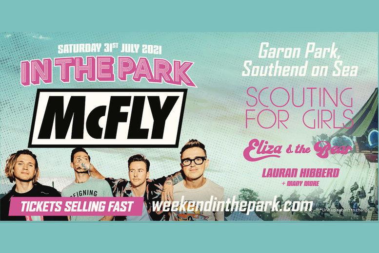 McFly & Special Guests Festival Ticket Voucher