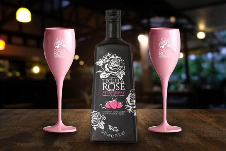 Tequila Rose Liqueur & Pink Flutes Voucher