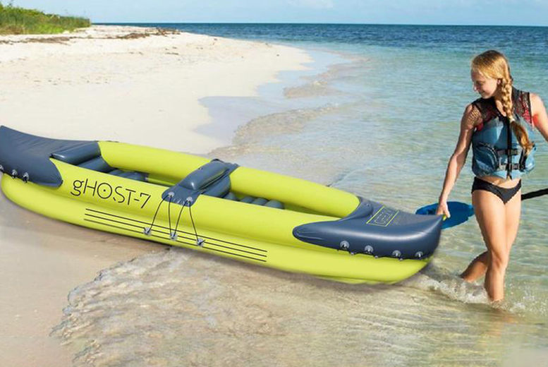 2-Man-Person-Inflatable-Kayak-with-Double-Paddle-IN-GREEN-1