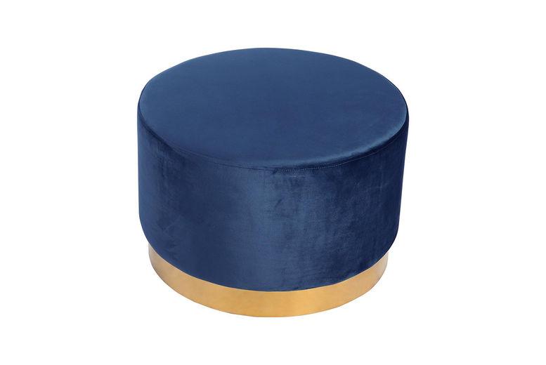 Velvet-Footstool-Round-Pouffe-2
