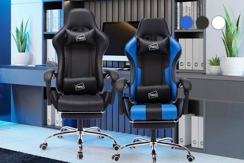 Neo-Leather-Gaming-Racing-Recliner-Chair-NEW