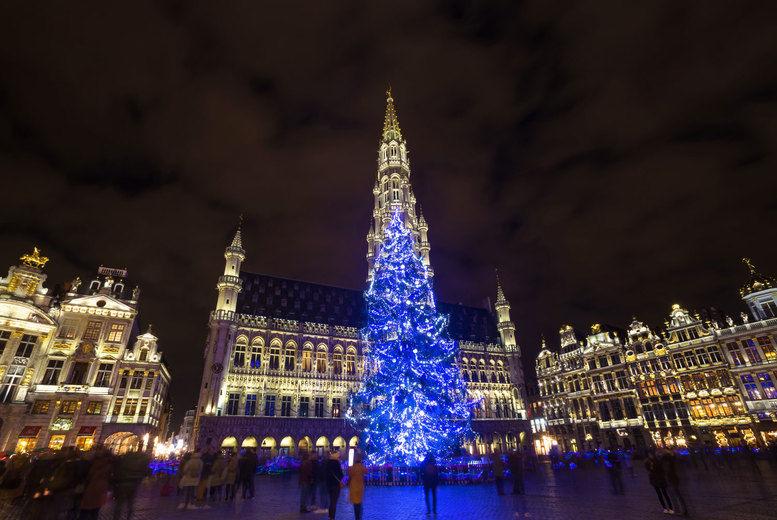 Brussels Christmas Market Stock Image