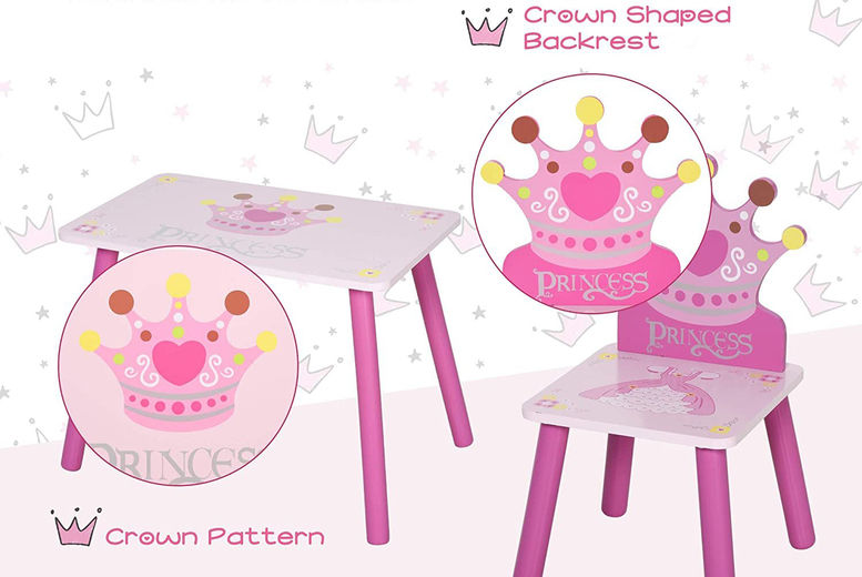 Kids-Wooden-Table-Chair-With-Crown-Pattern-Gift-6