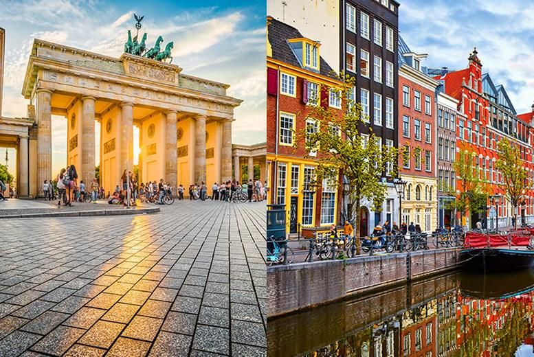 Berlin and Amsterdam Stock Image