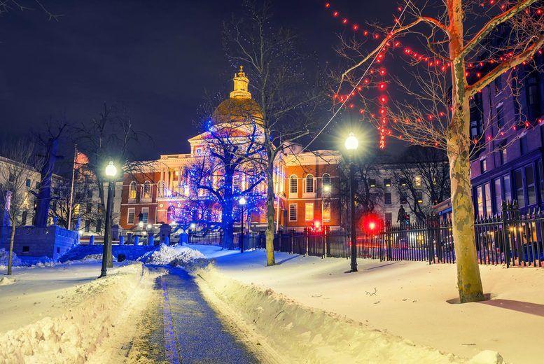Boston Christmas Stock Image