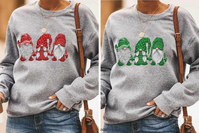 SEASONAL-Three-Santa-Pattern-Printed-Pullover-1