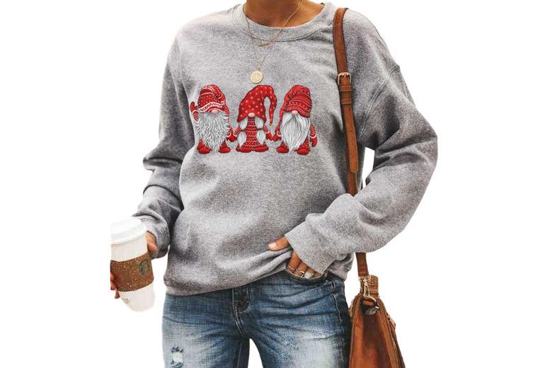 SEASONAL-Three-Santa-Pattern-Printed-Pullover-2