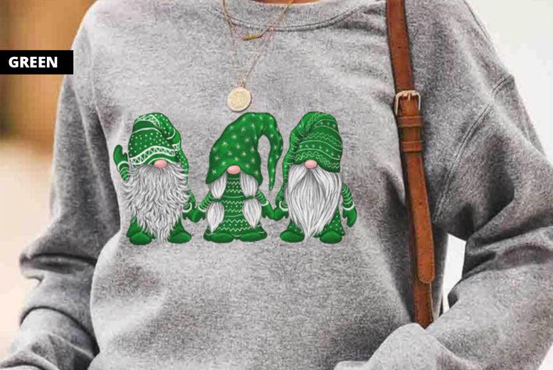SEASONAL-Three-Santa-Pattern-Printed-Pullover-7