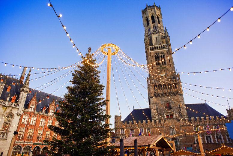 Bruge Christmas Market Stock Image
