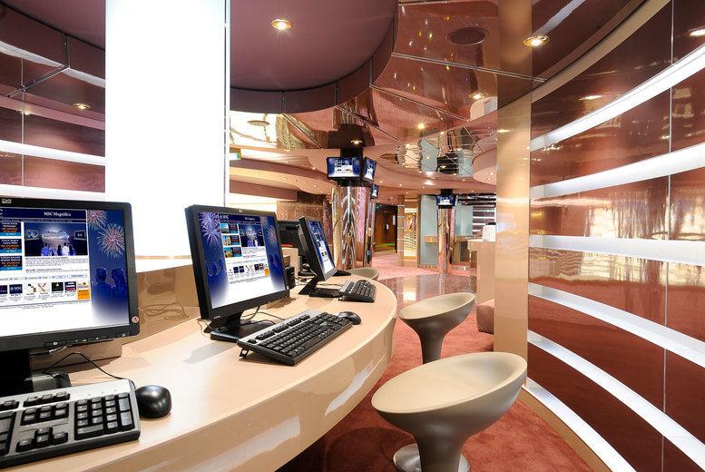 MSC Magnifica Cruise - Computer Room