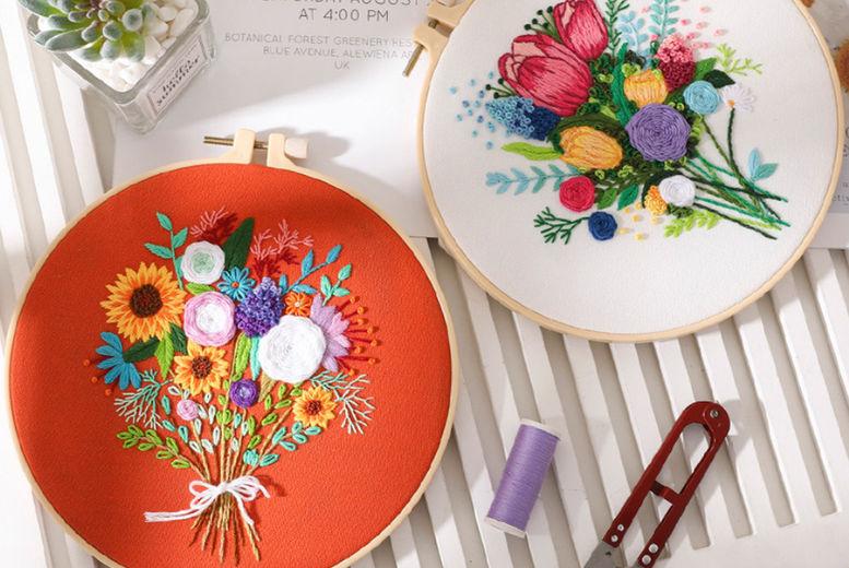 Flower-bouquet-DIY-Cross-Stitch-Embroidery-Starter-Kit-1