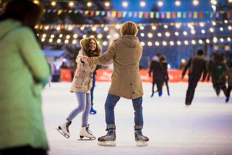 Ice skating-couple