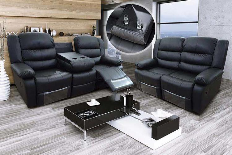 Furniture Stop Uk   Luxury Leather Reclining Sofa  ...