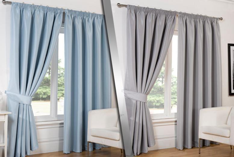 Luxury Faux Silk Blackout Curtains 8 Colours Shop