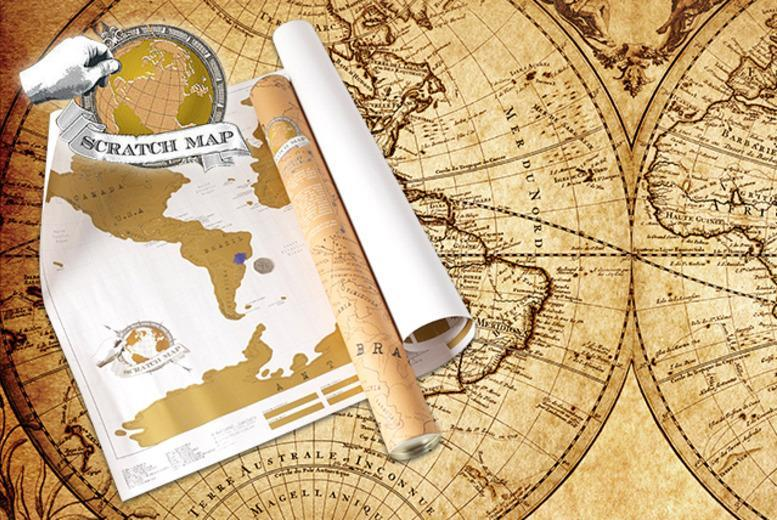World Scratch Map Shop Wowcher - World map to mark your travels