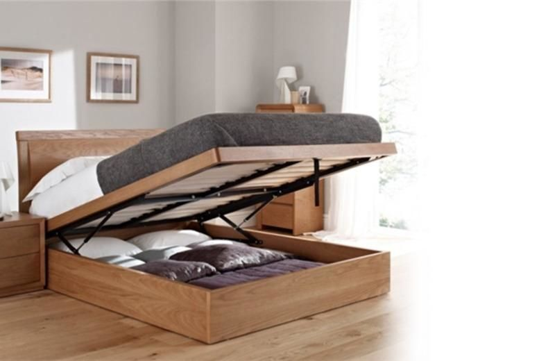Terrific Oak Ottoman Storage Bed Shop Wowcher Dailytribune Chair Design For Home Dailytribuneorg