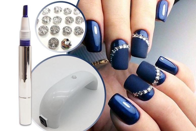 UV LED Nail Lamp & 3pc Gel Nail Kit | Shop | Wowcher
