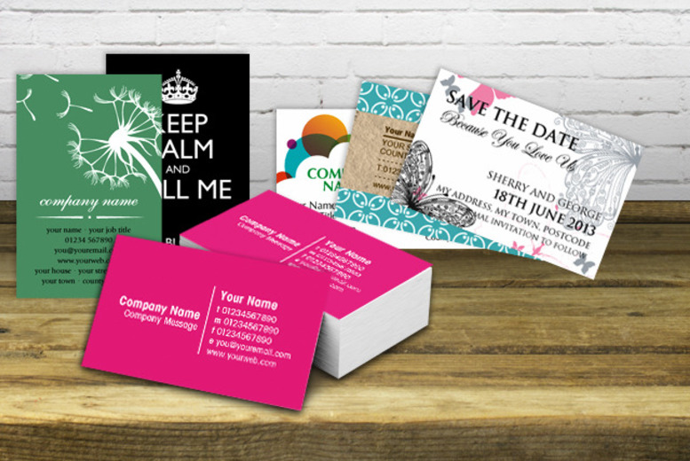 500 personalised business cards matte or gloss shop wowcher 39175 colourmoves