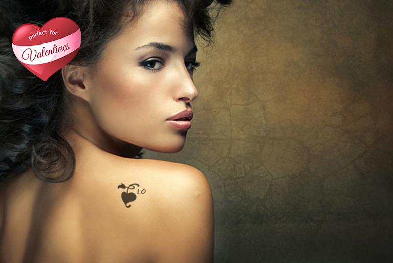 2 X 2 Personalised Heart Tattoo Edinburgh Wowcher