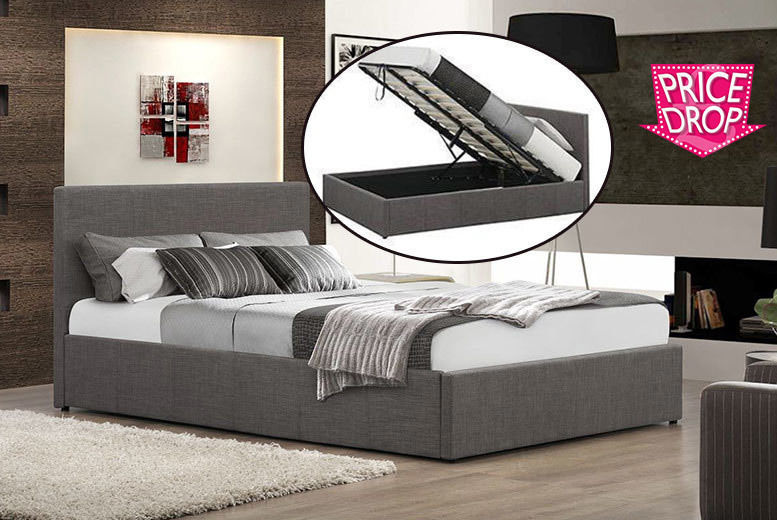 Fine Fabric Ottoman Gas Lift Storage Bed With Optional Memory Gamerscity Chair Design For Home Gamerscityorg