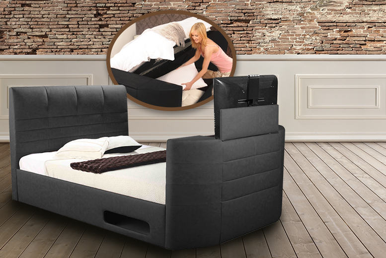 Super King Ottoman Tv Bed Shop Wowcher