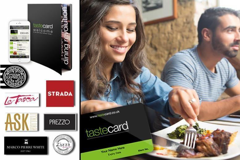 Tastecard 50 Off Over 7000 Restaurants For 12 Months