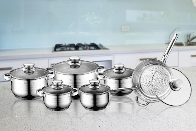 royalty line set  12pc Swiss Royalty Line® Pan Set | Shop | Wowcher