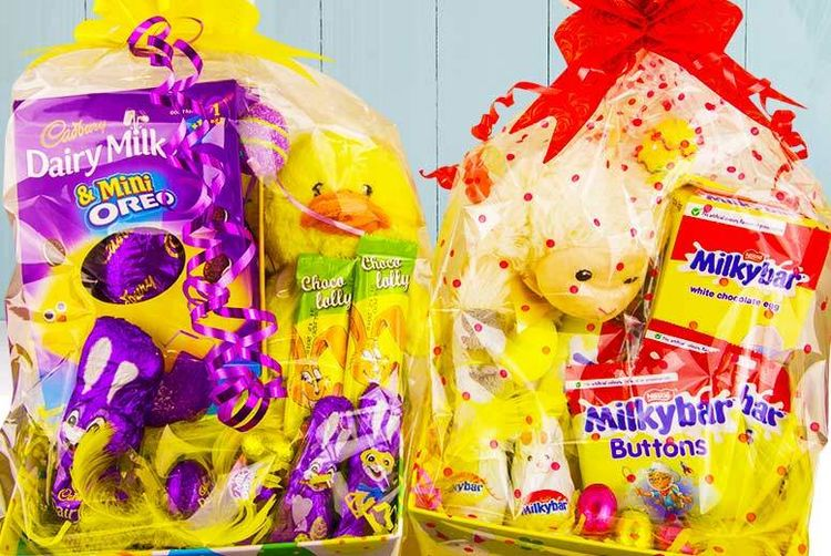 Chocolate easter hamper with teddy manchester wowcher love gift hampers 8 piece easter chocolate negle Image collections