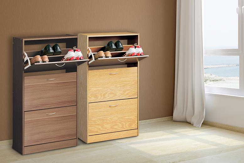 Bon PO 3 Drawer Shoe Cabinet   2 Finishes
