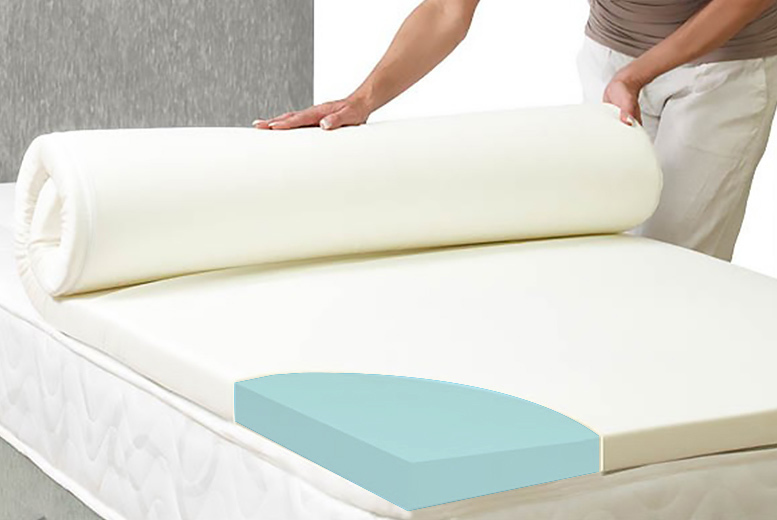 coolblue memory foam mattress topper with washable cover. Black Bedroom Furniture Sets. Home Design Ideas
