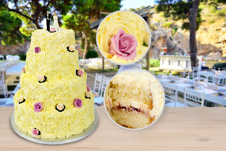 wedding cake deals london 3 or 4 tier luxury wedding cake amp delivery wowcher 22355