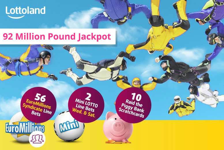 10 Lottoland Scratchcards, 2 Mini Lotto Draws & 56