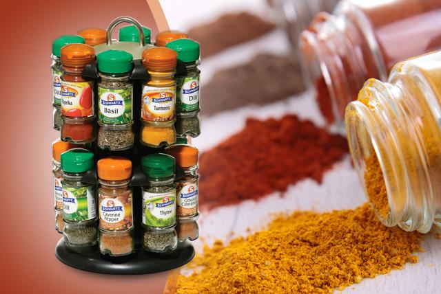 Spice Rack 16 Schwartz Spices Shop Wowcher