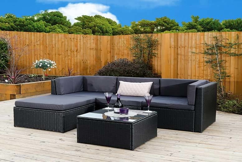 Modular Rattan Corner Sofa Set Shop Wowcher