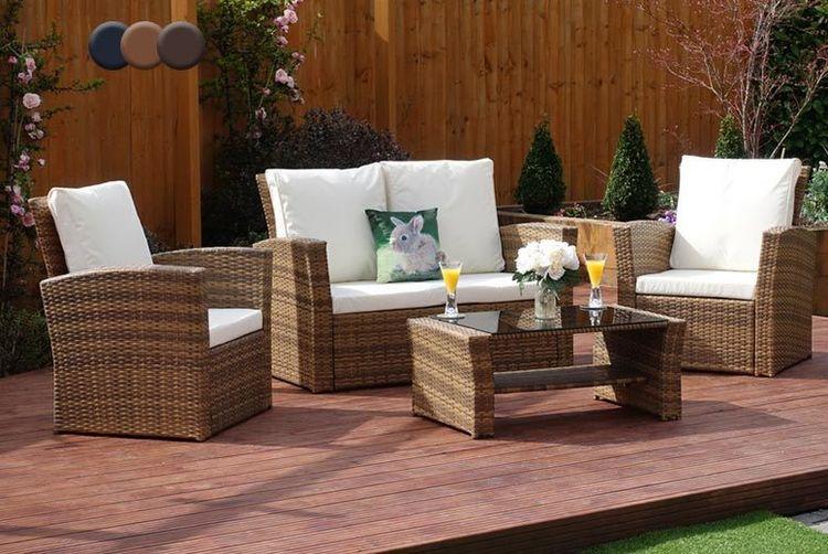 4-pc Algarve Rattan Sofa Set