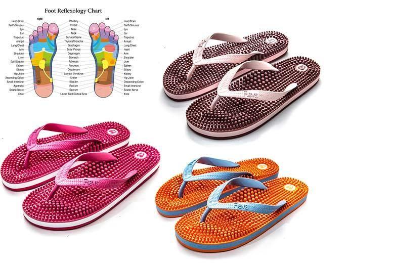 db948a94ab4 Women s Massaging Reflexology Flip-Flops - 3 Colours!